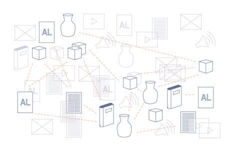 Schémas conceptuels réalisés dans le cadre du développement de la Plateforme de Connaissances: exploration de divers documents organisés en réseaux., © Atelier LUMA