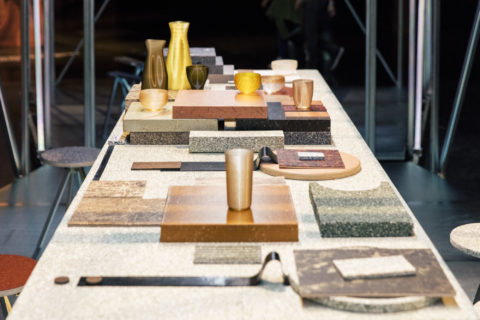Table of materials presented in Design Miami Basel 2018, © Victor Picon