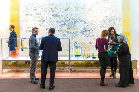 Presentation of the Algae Platform at the World Economic Forum in Davos in January 2020, © Faruk Pinjo