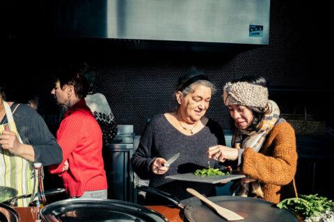 Cooking workshop in the Café des Forges of Luma Arles