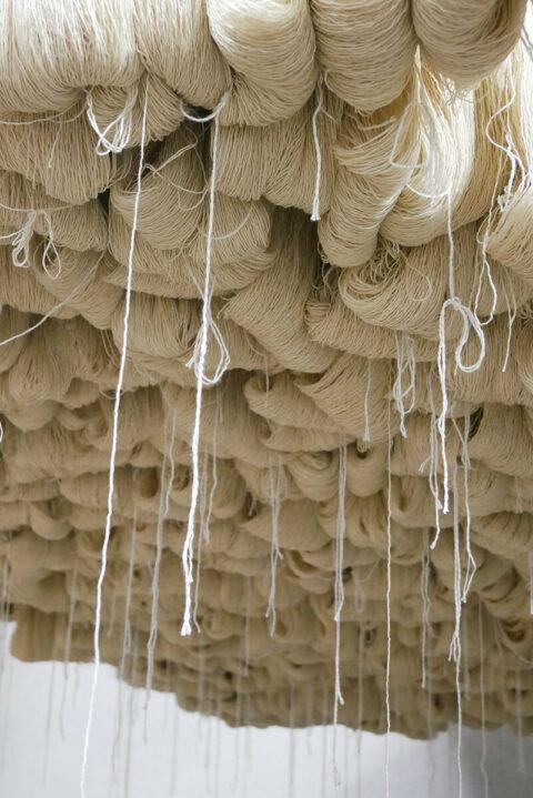 Écheveaux de laine Mérinos d'Arles prêts à être dégraissés avant teinture., © Sophie Depaul
