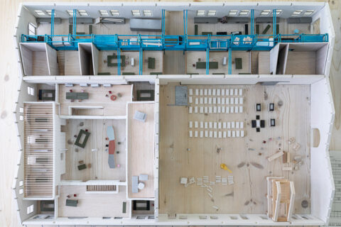 Maquette échelle 1:50 de la rénovation du Magasin Électrique, © Adrian Deweerdt