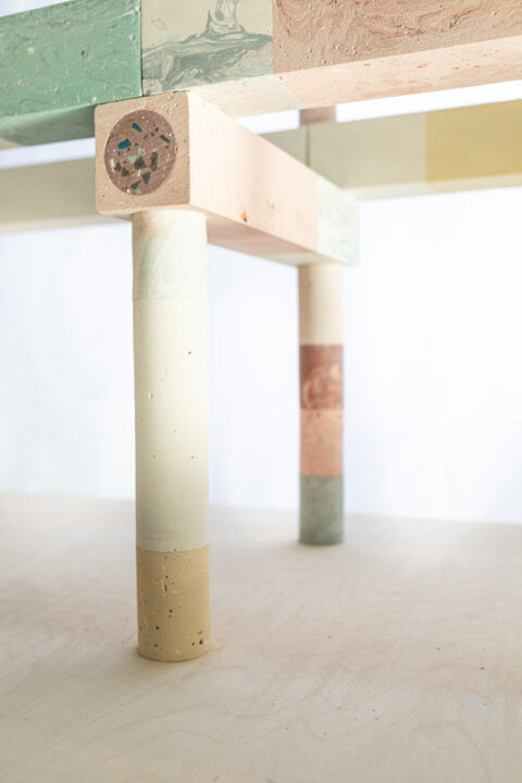 Maquette de concept échelle 1:10 en plâtre et bois. Réalisée en collaboration avec BC Architect et Assemble., © Adrian Deweerdt