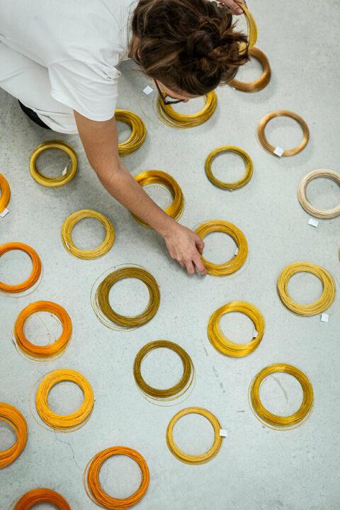Test d'extrusion de monofilaments pour une application textile., © Joana Luz