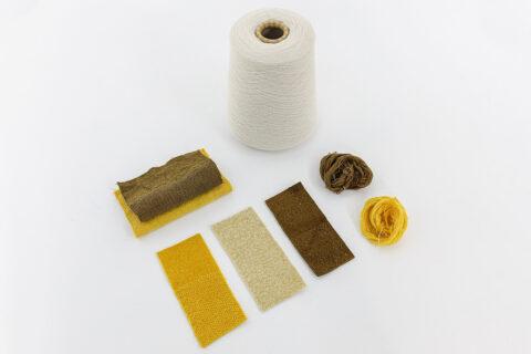 Déclinaison de couleurs à partir de réséda, pour les tissus d'ameublement de la Tour LUMA, © Adrian Deweerdt