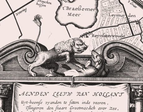 "© From Willem van der Laegh and Joost van den Vondel's ""Provisional Draft Plan and Proposal for the Diking of the Large Lakes,"" 1641"