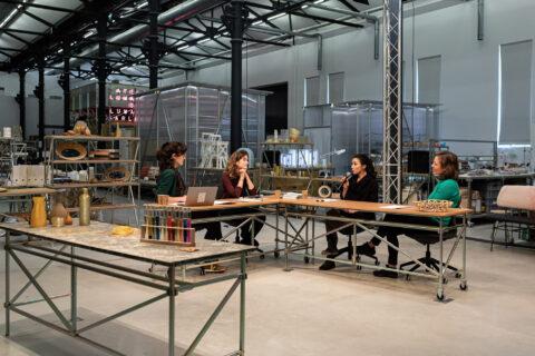 Studio installed in Atelier Luma for the Algae Summit, © Adrian-Deweerdt